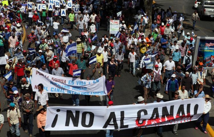 Campesinos de Nicaragua piden derogar ley que autoriza canal interocéanico