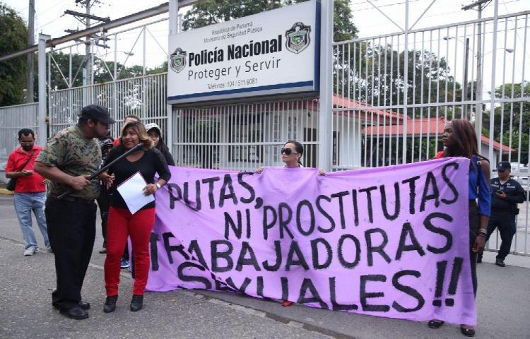 Quince detenidos tras marcha de las trabajadoras sexuales