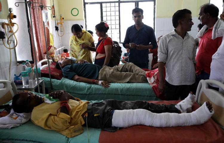 Accidente de tren en la India deja 20 muertos y 123 heridos