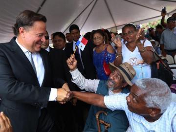 """""""Cumplimos con una deuda histórica """", Presidente Varela"""