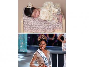 La Miss Colombia 2016 Andrea Tovar presentó a su primogénita, Elena