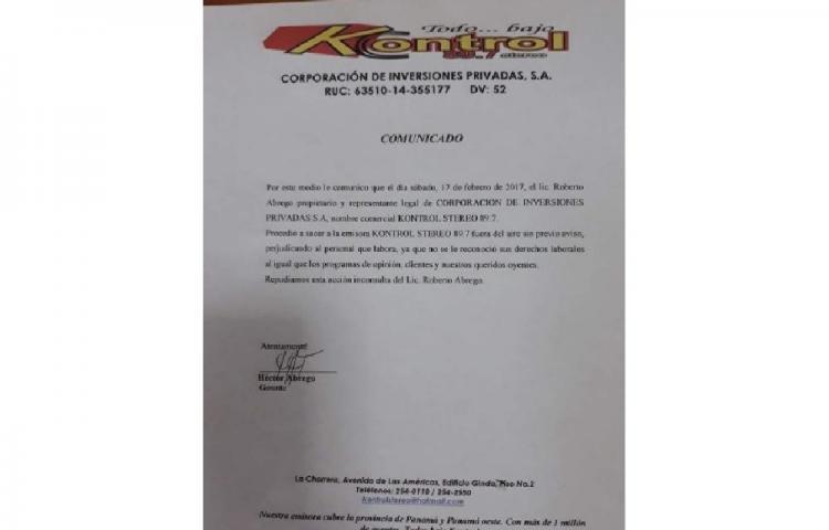 Trabajadores de Kontrol Stereo denuncian cierre de la emisora