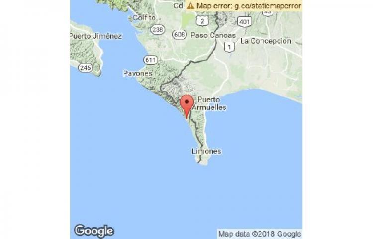 Sismo de 4.2 sacude Puerto Armuelles