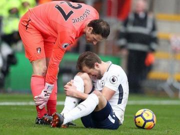Harry Kane se lesiona en el partido ante Bournemouth