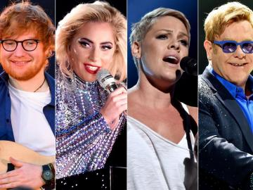 Ed Sheeran, Lady Gaga, P!nk, Cyrus, Lovato y Coldplay recrean a Elton John