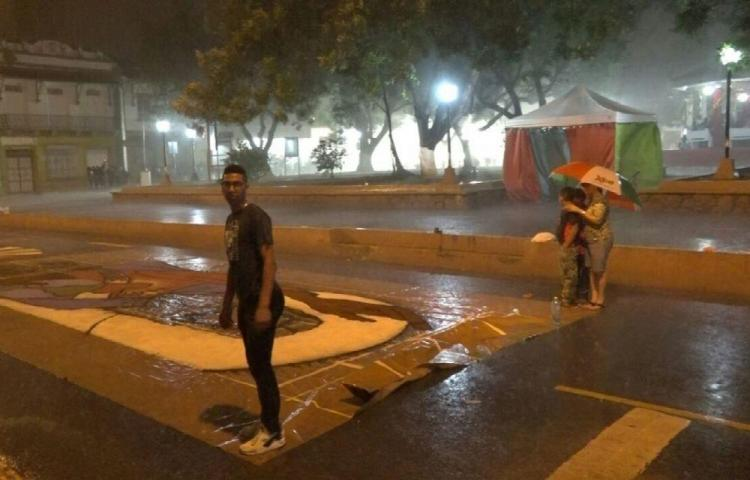 ¡Corpus Christi bajo la lluvia!
