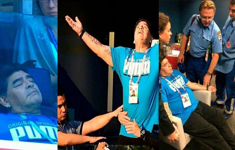 Maradona le dio un 'faracho' tras el triunfo de Argentina