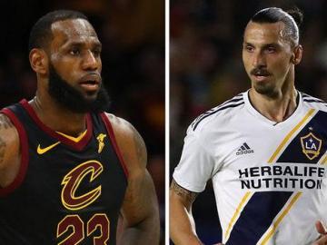 Entre un 'Dios' y un 'Rey', Zlatan le da la bienvenida a LeBron a Los Ángeles