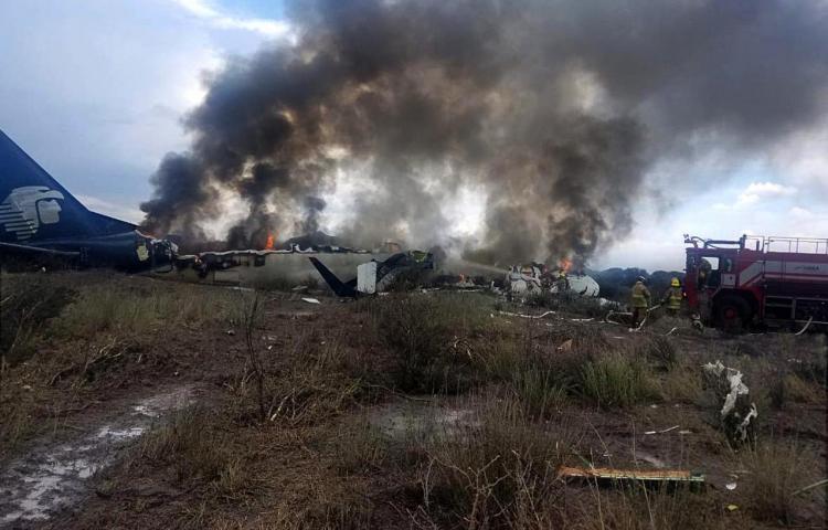 Once ocupantes del avión accidentado en México permanecen hospitalizados