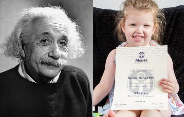 Una niña británica de tres años registra un coeficiente superior a Einsten