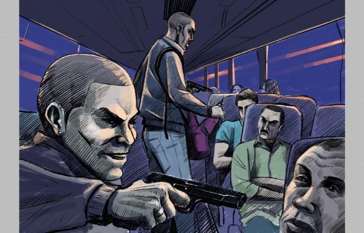 Así asaltaron a todos en un bus Panamá -La Chorrera