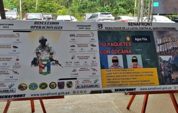 Decomisan de 152 paquetes de cocaína en Darién