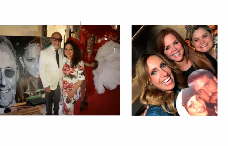 Janet Poll en la fiesta de Emilio y Gloria Estefan por sus 40 años de matrimonio