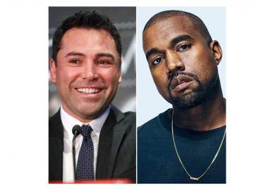 Oscar De La Hoya y Kanye West quieren ser presidentes de Estados Unidos
