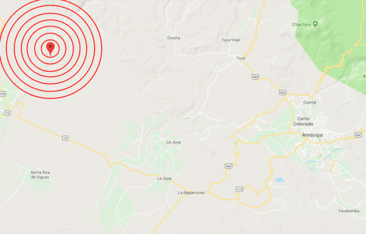 Terremoto de 5,8 grados sacude región peruana de Arequipa