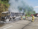 Al menos dos personas afectadas por incendio de bus de pasajeros en Panamá