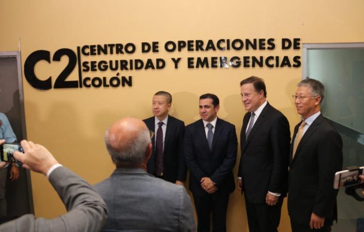 Varela inaugura Centro de Operaciones de Seguridad y Emergencias en Colón