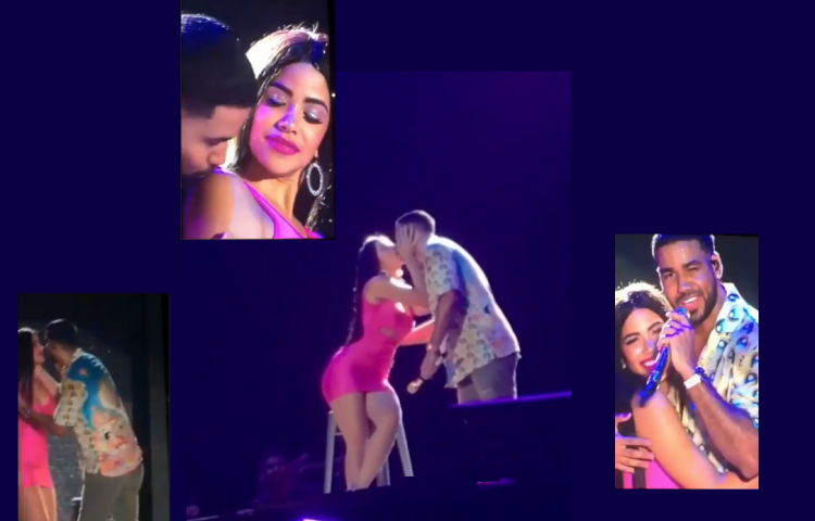 """Romeo Santos: Marigaby Sealy le roba un beso fugaz a """"El Rey de la Bachata"""""""