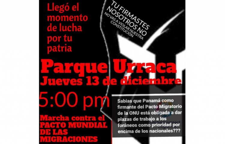 Convocan marcha contra la firma del pacto Mundial de las Migraciones