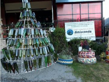 Se lucieron con el arbolito de botellas de vino en Chiriquí