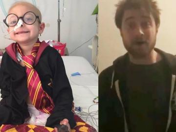 Niña mexicana con leucemia linfoblástica aguda recibe mensaje de Harry Potter