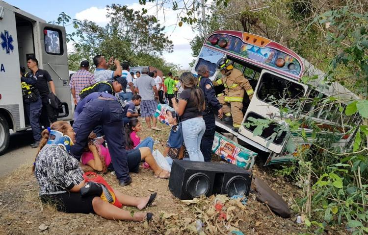 17 heridos deja accidente registrado en Chepo