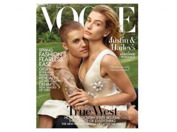 ¡Reciéncasados! Justin Biebery Hailey Baldwinposan para Vogue