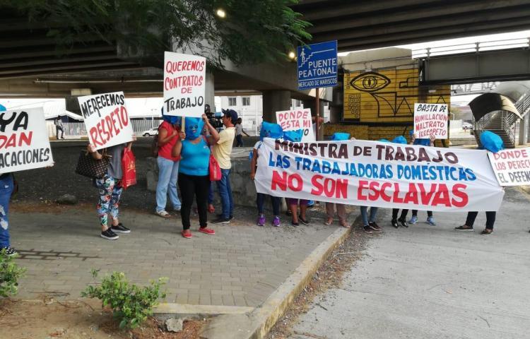 Trabajadoras domésticas exigen contratos y el cese al abuso laboral