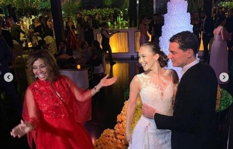 Olga Sinclair comparté fotos de la boda de su hija Natasha