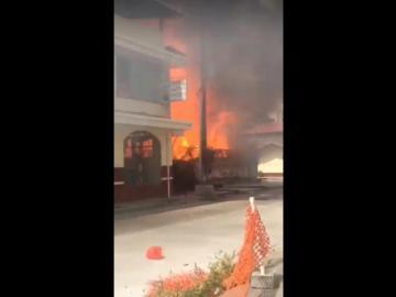Incendio alerta a residentes en Calle 3 y Meléndez, provincia de Colón