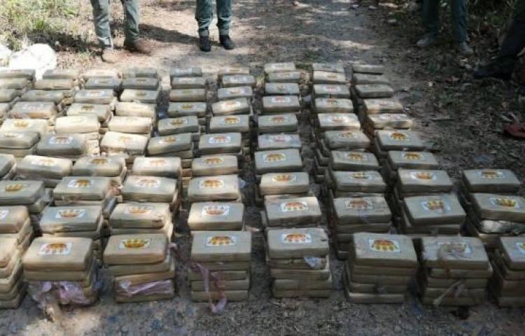 Decomisan 495 paquetes de droga en Cerro Azul