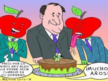 Caricaturas de Delmiro sobre la realidad política