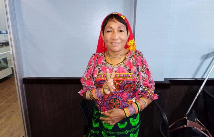 Petita, la primera mujer diputada en la comarca Guna