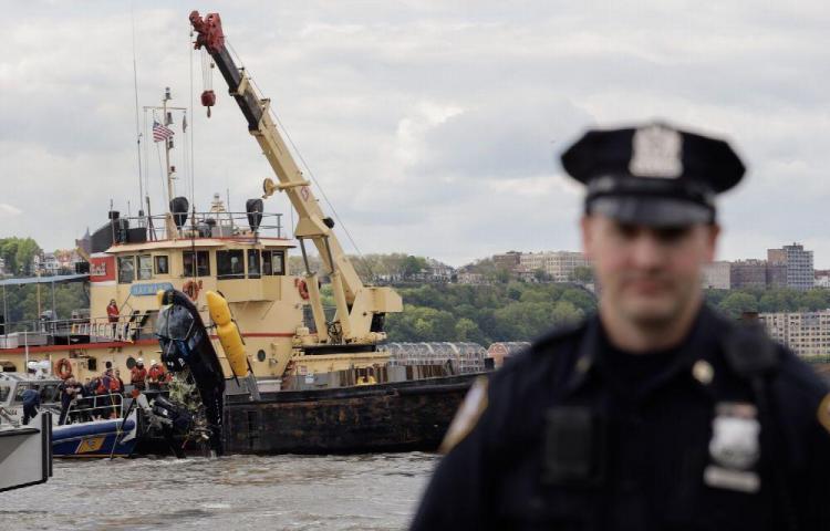Se estrella helicóptero en el río Hudson
