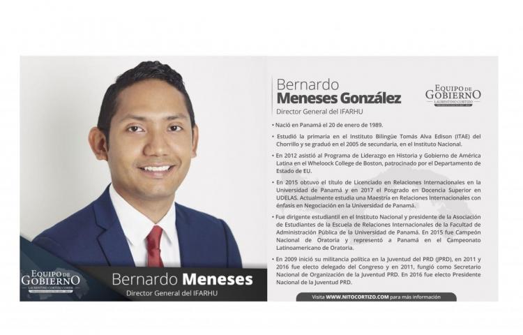 Este es el perfil de Bernardo Meneses, recién designado director del Ifarhu