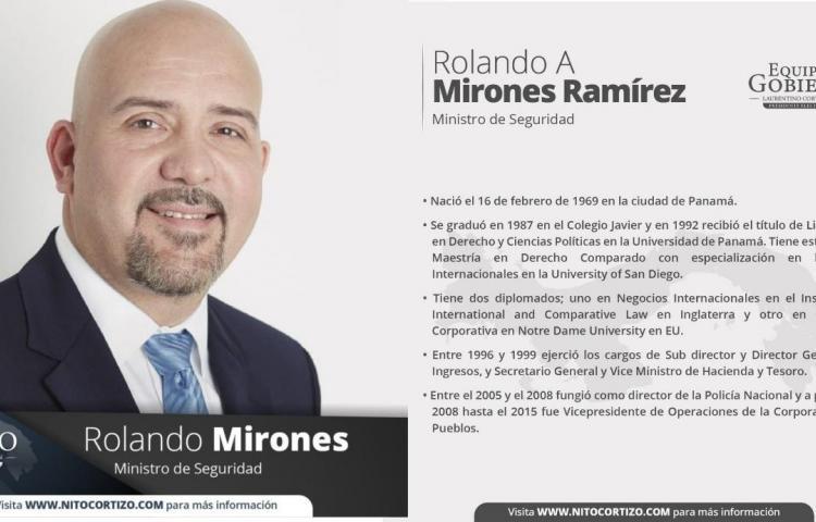 Este es el perfil de Rolando Mirones, designado ministro de seguridad