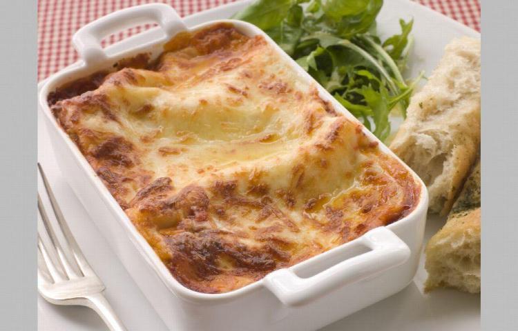 Una deliciosa lasagna de pollo