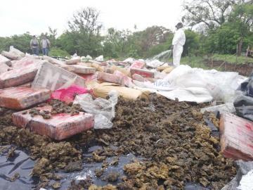 Autoridades destruyen 10.7 toneladas de drogas