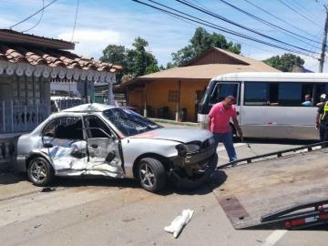 Dos heridos dejan accidentes en calles de Chitré
