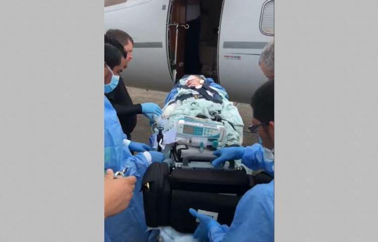 Miguel Ignacio fue trasladado a USA para cirugía y transplante