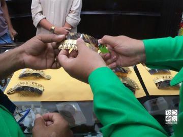 Decomisan más de 200 piezas hechas con tortuga carey en allanamiento a cinco joyerías