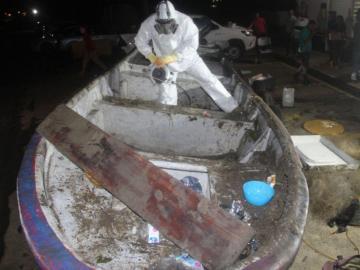 Estamentos agarran lanchas con cocaína en Capira y Azuero