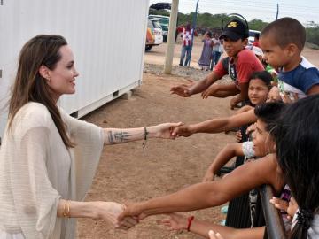 Jolie destaca respuesta humanitaria de Colombia ante éxodo de venezolanos