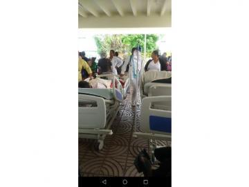 Desalojo en el Hospital San Miguel Arcángel por fuerte olor a gas