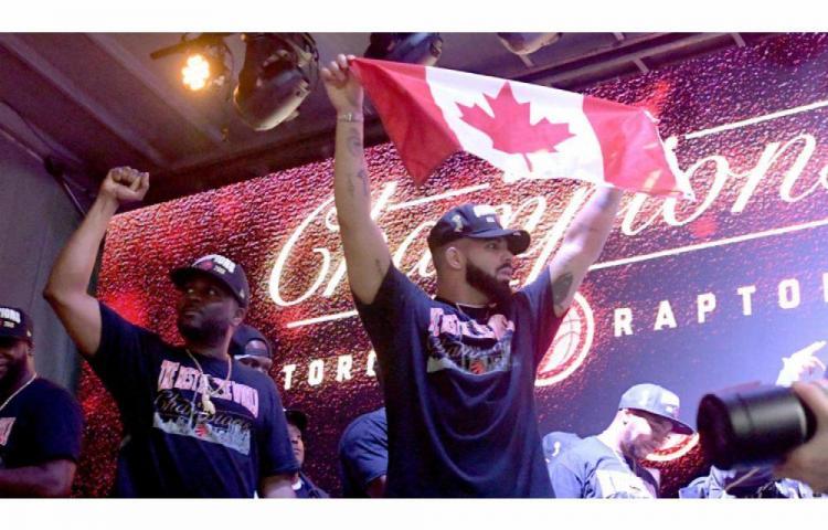 Drake orgulloso del título de los Raptors