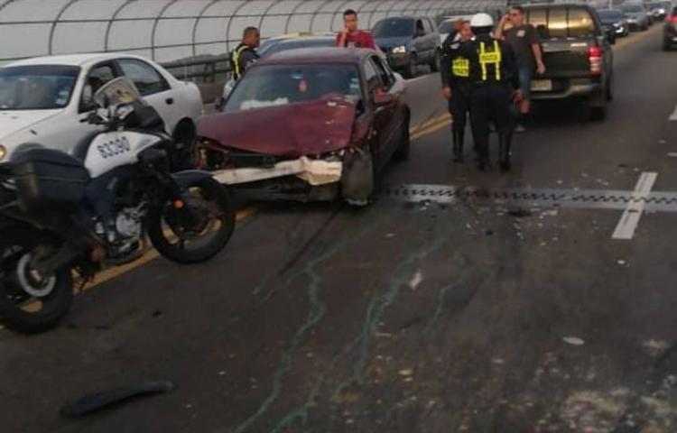 Tres accidentes provocan tranque hacia la ciudad y Panamá Oeste