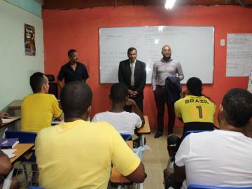 Director y Subdirector del Sistema Penitenciario realizan recorrido en La Joya