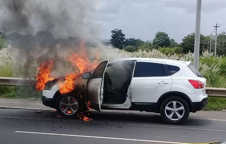 43 carros se han incendiado en Panamá Oeste