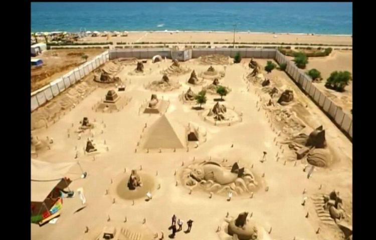 Museo en Turquía tiene impresionantes esculturas de arena