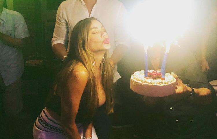 Sofía Vergara celebró sus 47 con un stripper